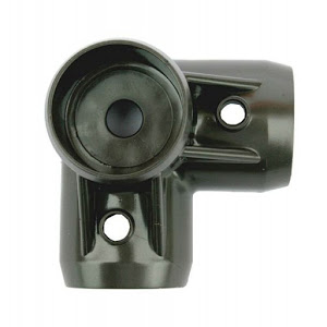 Bottom corner bracket for walnut pvc bed