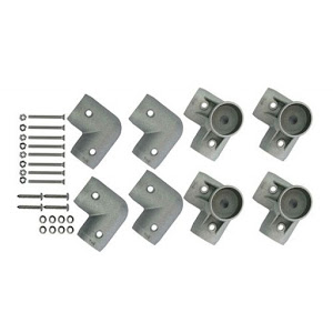 Set of 4 corners with legs for aluminum bed